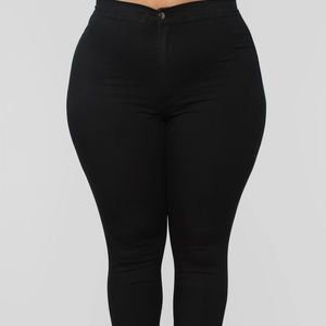 Super High Waist Denim Skinnies | Fashion Nova